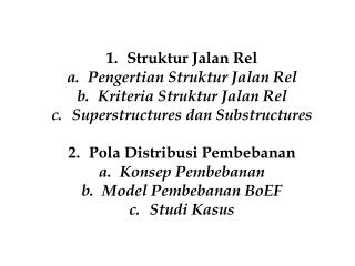 Struktur Jalan Rel Pengertian Struktur Jalan Rel Kriteria Struktur Jalan Rel