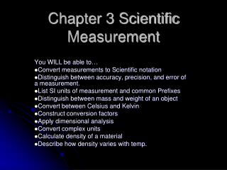 Chapter 3 Scientific Measurement