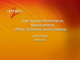 Inter-domain Performance Measurements (Plans, Schemas, and Fantasies)