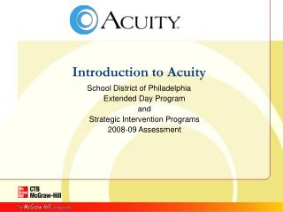 Introduction to Acuity