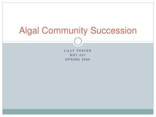 Algal Community Succession