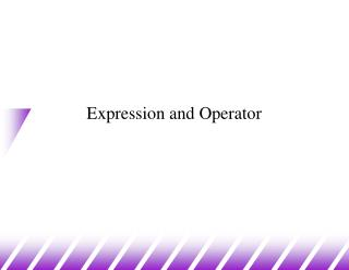 Expression and Operator