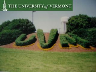 Developing A Comprehensive Facilities Plan At UVM