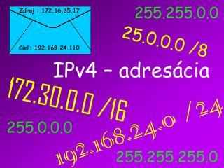 IPv4 – adres ácia