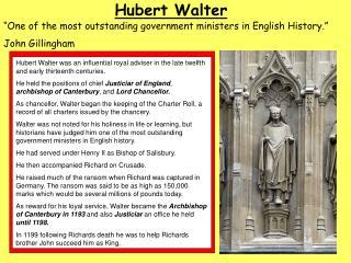 Hubert Walter