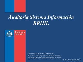 Auditoria  Sistema Información RRHH.