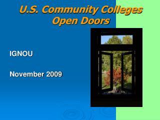 U.S. Community Colleges Open Doors