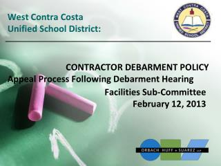 Facilities Sub-Committee  February  12 ,  2013
