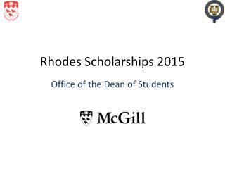 Rhodes Scholarships 2015