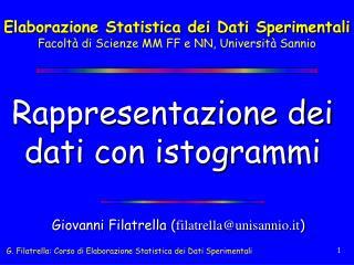 Rappresentazione dei dati con istogrammi