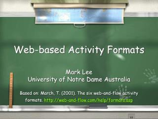 Web-based Activity Formats