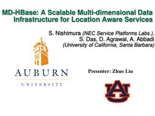 MD- HBase : A Scalable  Multi-dimensional  Data Infrastructure for Location Aware Services