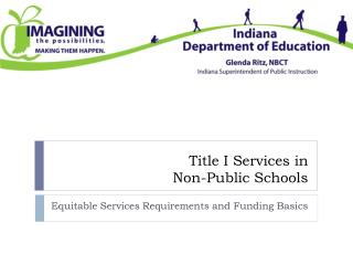 Title I Services in  Non-Public  Schools