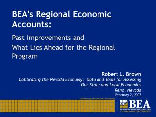 BEA's Regional Economic Accounts: