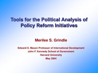 Tools for the Political Analysis of Policy Reform Initiatives