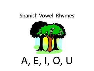Spanish Vowel  Rhymes