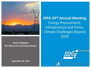 Victor Vilaplana VP, Electric & Fuel Procurement September 18, 2014