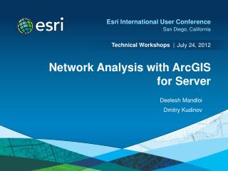 Network Analysis with ArcGIS for Server