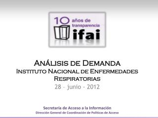 Análisis de  Demanda Instituto Nacional de Enfermedades Respiratorias