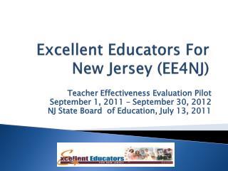 Excellent Educators For New Jersey (EE4NJ)