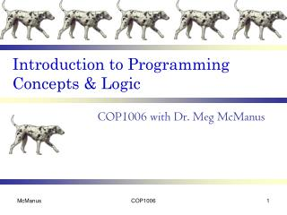Introduction to Programming Concepts & Logic