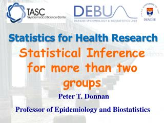 Statistical Inference for more than two groups