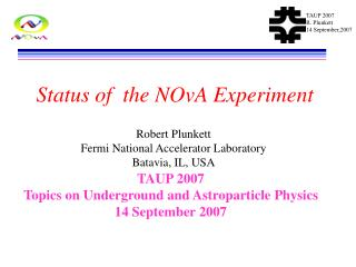 Status of  the NOvA Experiment