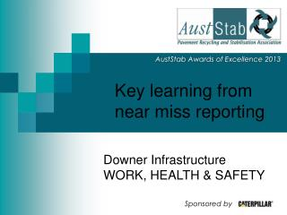 Key learning from near miss reporting