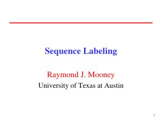 Sequence Labeling