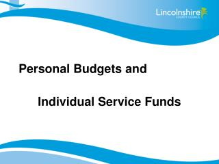 Personal Budgets and