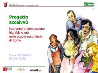 Progetto accaivvù interventi di prevenzione hiv/aids e mts  nelle scuole secondarie di Roma