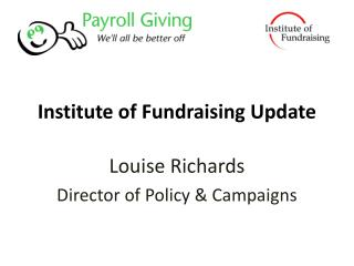 Institute of Fundraising Update