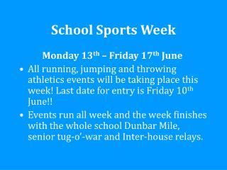 School Sports Week