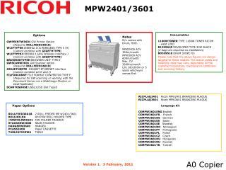 MPW2401/3601