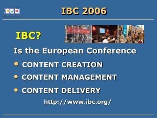 IBC 2006