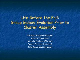 Life Before the Fall: Group Galaxy Evolution Prior to Cluster Assembly