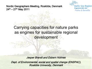 Carrying capacities for nature parks as engines for sustainable regional development