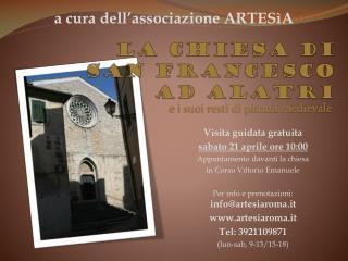 La chiesa di  San Francesco  ad Alatri