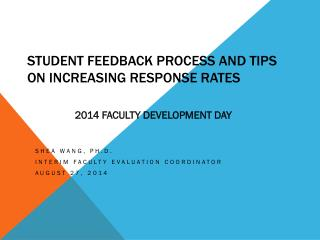 Student Feedback Process and tips on increasing response rates