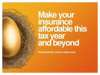 Make your insurance affordable this tax year and beyond