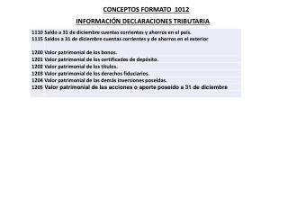 CONCEPTOS FORMATO  1012