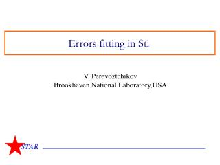 Errors fitting in Sti