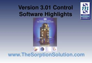Version 3.01 Control  Software Highlights