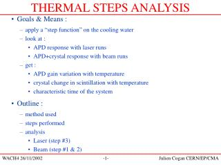 THERMAL STEPS ANALYSIS