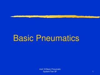 Basic Pneumatics