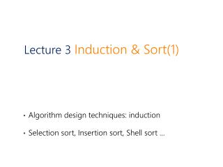 Lecture 3  Induction & Sort(1)