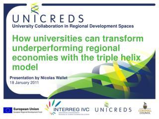Presentation by Nicolas Wallet 18 January 2011