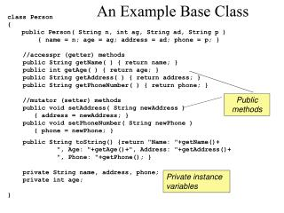 An Example Base Class