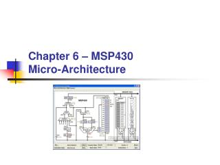 Chapter 6 � MSP430 Micro-Architecture