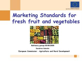 Marketing Standards for fresh fruit and vegetables